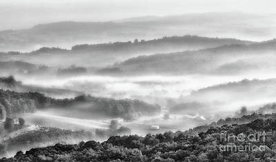 Photograph - A View From The Top Bw by Dan Carmichael