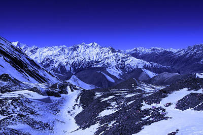 Photograph - A View From Thorong La Pass, Nepal by Aidan Moran