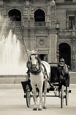 Photograph - A View In Black And White Of Plaza De Espana  by Andrea Mazzocchetti