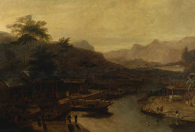 A View In China - Cultivating The Tea Plant Art Print by William Daniell