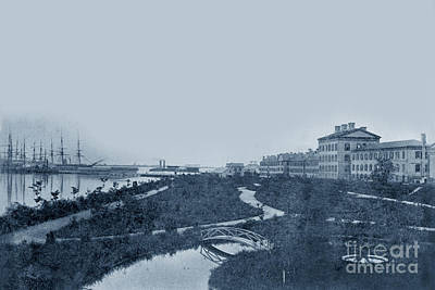 Photograph - A View Looking East Of The Naval Academy Annapolis, Maryland  Wi by California Views Mr Pat Hathaway Archives