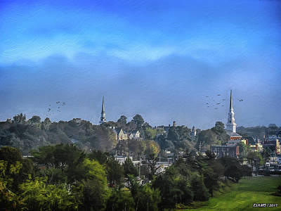 Digital Art - A View Of Bangor by Ken Morris