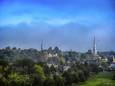 Digital Art - A View Of Bangor by Ken Morris