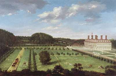 Park Scene Painting - A View Of Bayhall - Pembury by Jan Siberechts