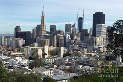 Photograph - A View Of Downtown From Nob Hill by Steven Spak