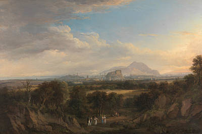 Edinburgh Painting - A View Of Edinburgh From The West by Alexander Nasmyth