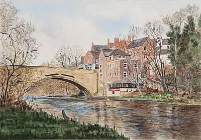Painting - A View Of Framwelgate Bridge by George Levitt
