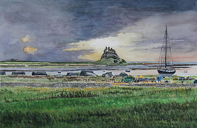 Painting - A View Of Holy Island by George Levitt