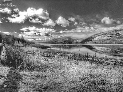 Photograph - A View Of Loch Linnhe In Greyscale by Joan-Violet Stretch