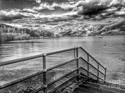 Photograph - A View Of Loch Lomond In Greyscale by Joan-Violet Stretch