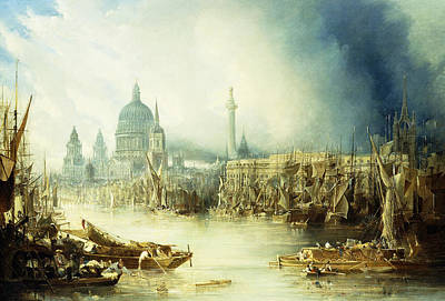 A View Of London Art Print by John Gendall