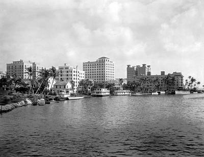 Florida House Photograph - A View Of Miami by Underwood Archives