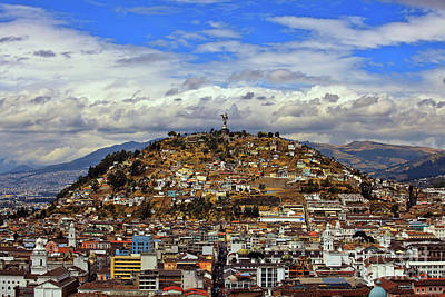 Photograph - A View Of Quito, Ecuador From The Basilica Del Voto Nacional by Sam Antonio Photography