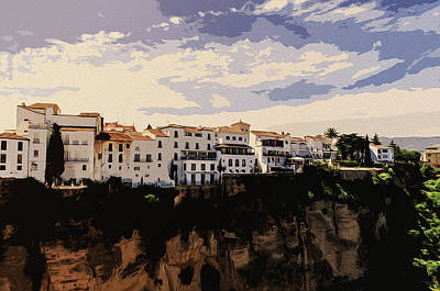 Painting - A View Of Ronda, Andalusia by Andrea Mazzocchetti