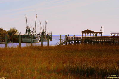 Photograph - A View Of Shem Creek Mt Pleasant Sc by Lisa Wooten
