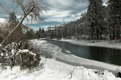 Gelid Photograph - A View Of Th Tieton River by Jeff Swan