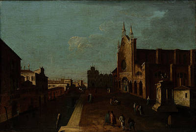 Campo Painting - A View Of The Campo Di San Giovanni E Paolo by Canaletto