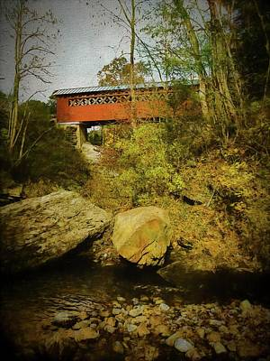 Photograph - A View Of The Chiselville Covered Bridge,arlington Vermont. by Rusty R Smith