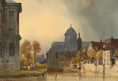 Christian Artwork Painting - A View Of The Church Of Our Lady Of Hanswijk - Mechelen Belgium by Mountain Dreams