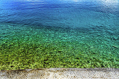 Photograph - A View Of The Crystal Clear Water Of Rab, Croatia by Global Light Photography - Nicole Leffer