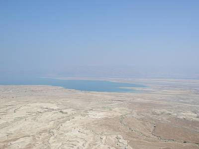 A View Of The Dead Sea From Masada Art Print by Susan Heller