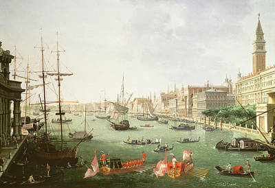 Oarsman Painting - A View Of The Grand Canal by Vincenzo Chilone
