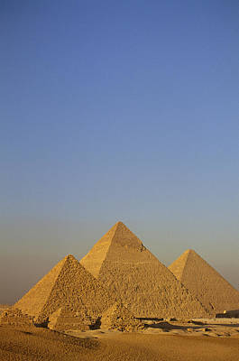 A View Of The Great Pyramids Of Giza Art Print