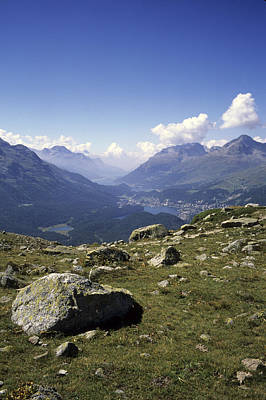 Graubunden Photograph - A View Of The Lakes Down The Engadine by Taylor S. Kennedy