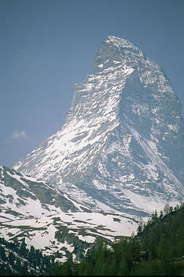 Natural Forces Photograph - A View Of The Majestic Matterhorn by Gordon Wiltsie