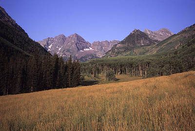 A View Of The Maroon Bells Mountains Art Print by Taylor S. Kennedy