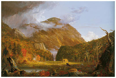 A View Of The Mountain Pass Called The Notch Of The White Mountains Art Print by Thomas Cole
