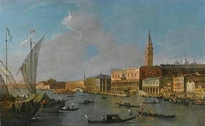 A View Of The Palazzo Ducale  Art Print