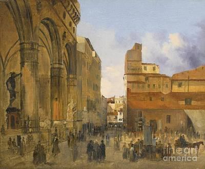 A View Of The Piazza Della Signoria Art Print by Celestial Images