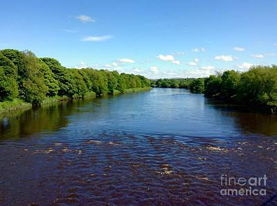 Photograph - A View Of The River Ribble 2 by Joan-Violet Stretch