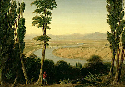 A View Of The Tiber And The Roman Campagna From Monte Mario Art Print by William Linton