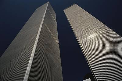A View Of The Twin Towers Of The World Print by Roy Gumpel