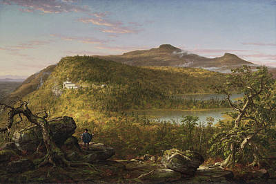 Cole Painting - A View Of The Two Lakes And Mountain House, Morning by Thomas Cole