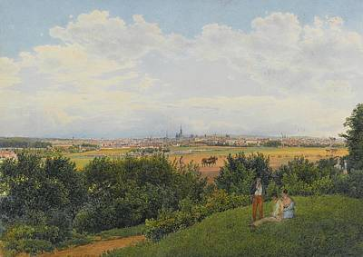 A View Of Vienna From The Prater Print by MotionAge Designs