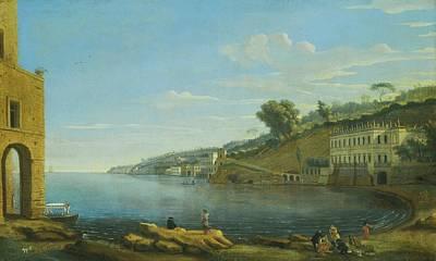 Villa Painting - A View Of Villa Martinelli At Posillipo by Gaspar van