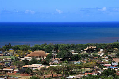 Photograph - A View Of Waimea Town by Bonnie Follett