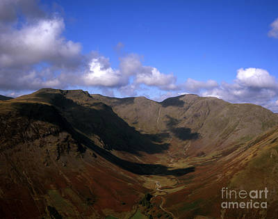 Pop Art - A view of  Wasdale Head and Mosedale  Red Pike Pillar  Kirk Fell Cumbria England by Michael Walters