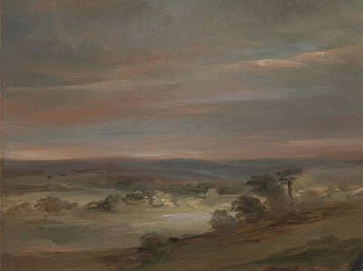Hampstead Painting - A View On Hampstead Heath by MotionAge Designs