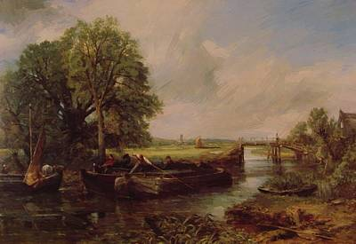 Painting - A View On The Stour Near Dedham 1822 by Constable John