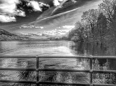 Photograph - A View Over Loch Lomond In Greyscale 2 by Joan-Violet Stretch