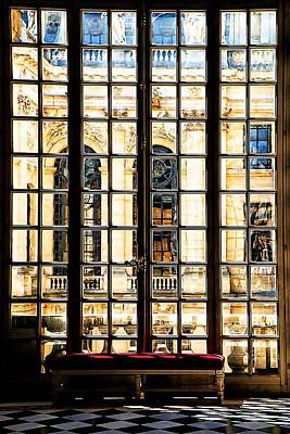 Firefighter Patents Royalty Free Images - A View Through The Palace Window Versailles Royalty-Free Image by Mike Marsden