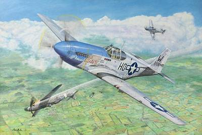 P51 Drawing - A View To A Kill by Mike McGee