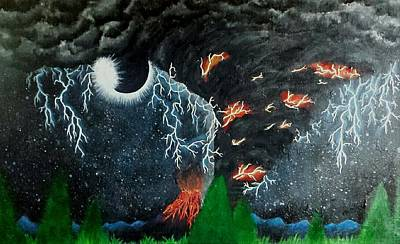 Extreme Weather Painting - A View To Die For by Miranda Ponder
