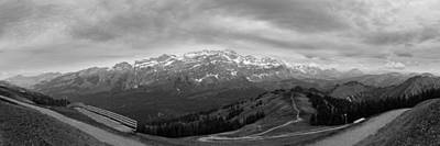 Photograph - a view to the Saentis in monochrome by Andreas Levi