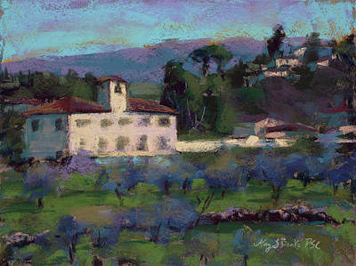 Pastel - A View To Tuscany by Mary Benke