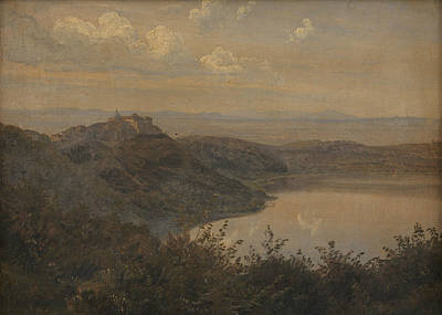 Painting - A View Towards Castel Gandolfo, Italy by Janus la Cour